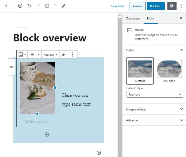 style up the image inside WordPress Columns Block