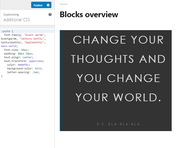 WordPress Quote Block CSS