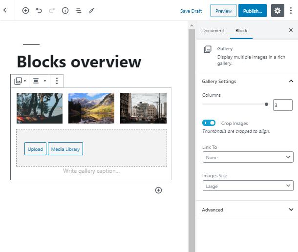 customize WordPress Gallery block