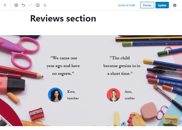 add a review in Review Block