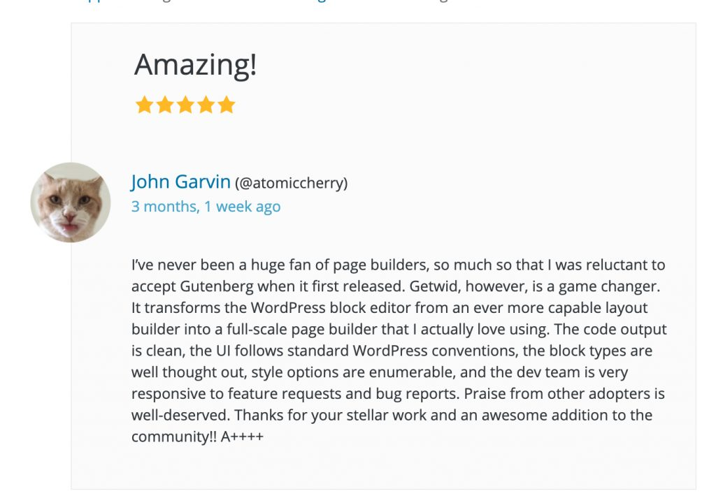 Getwid Gutenberg Blocks Review