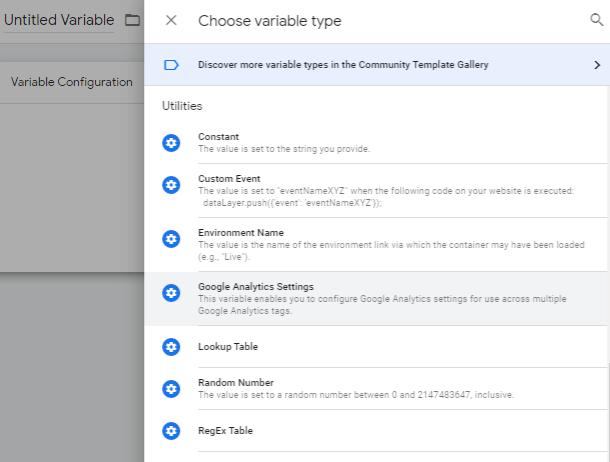utilities tab