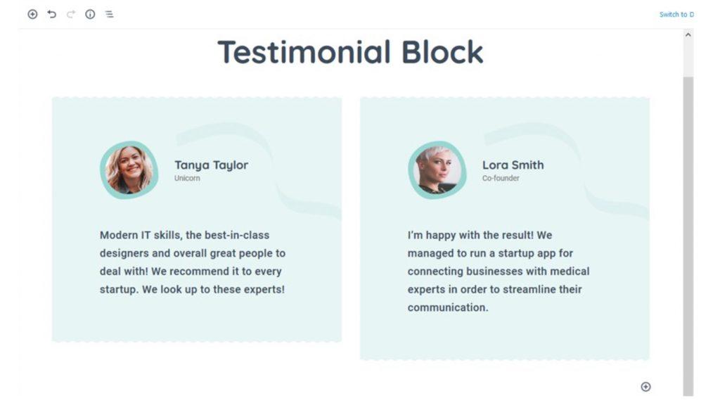 Getwid Testimonials Design