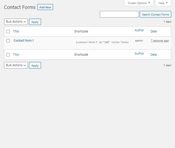 create a WordPress Contact Form