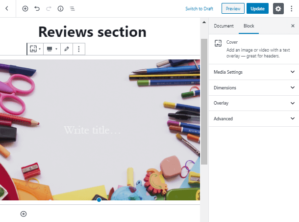 add background for Review Block in Gutenberg