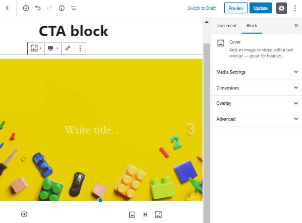 Call to Action WordPress Block