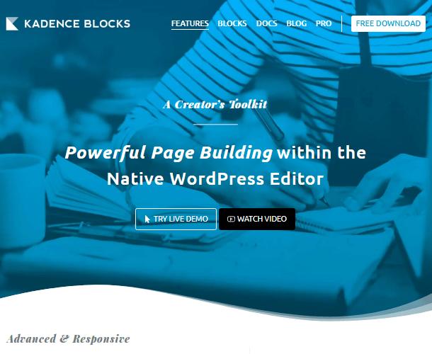 Kadence best Gutenberg block plugins
