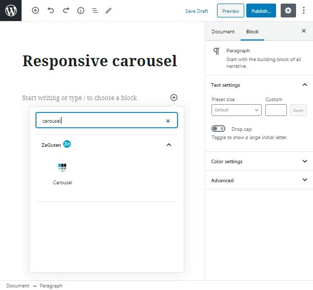 add carousel
