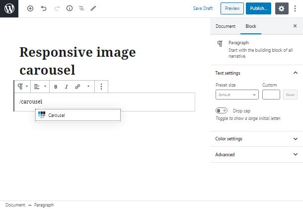 responsive image carousel