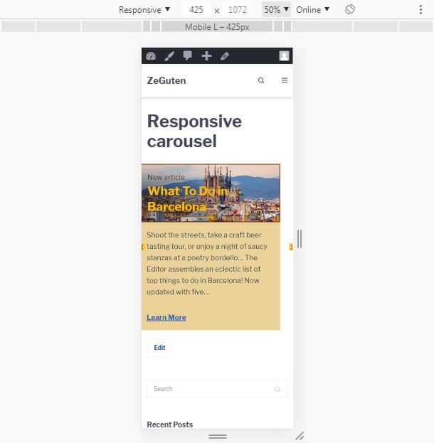 responsiveness post carousel plugin wordpress