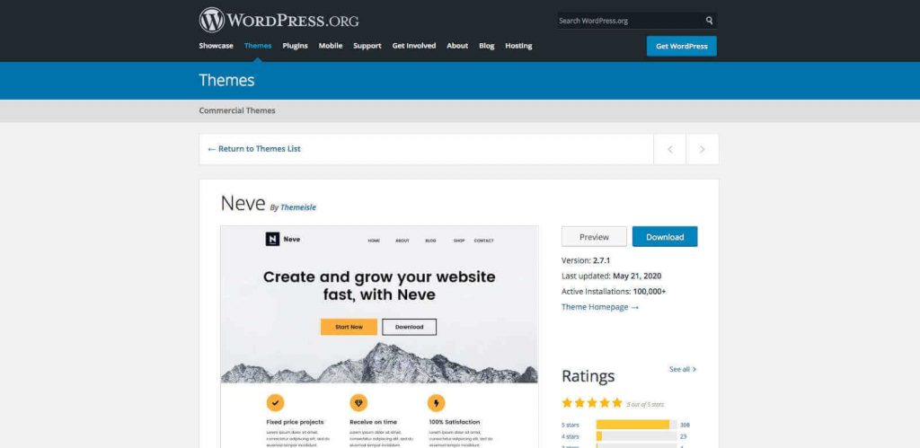 WordPress themes comparison