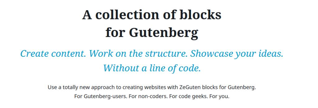 slider in Gutenberg