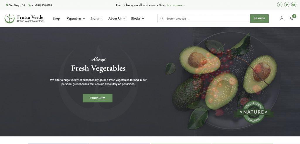 Frutta Verde Gutenberg Theme