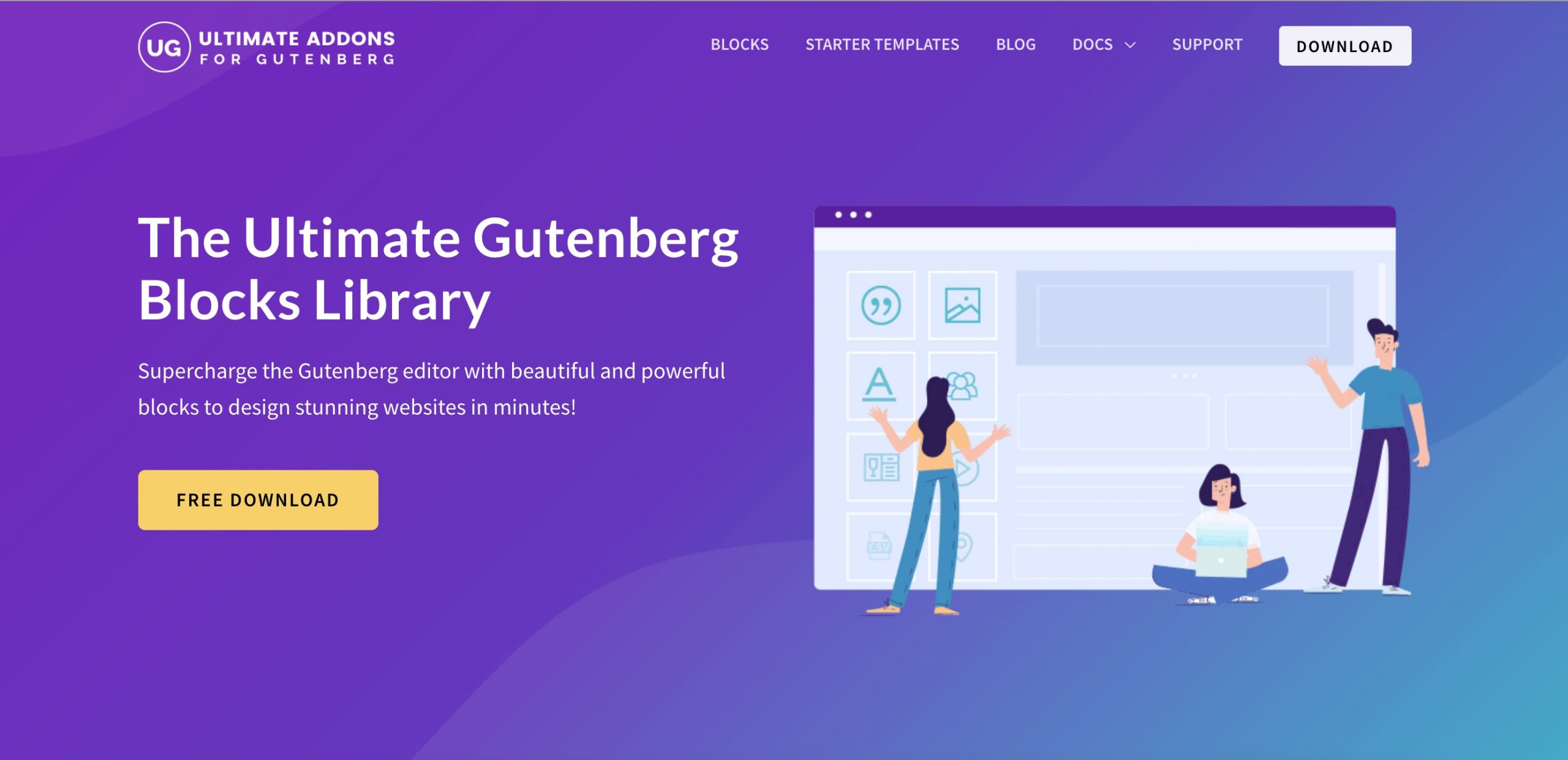 Ultimate Addons for Gutenberg editor