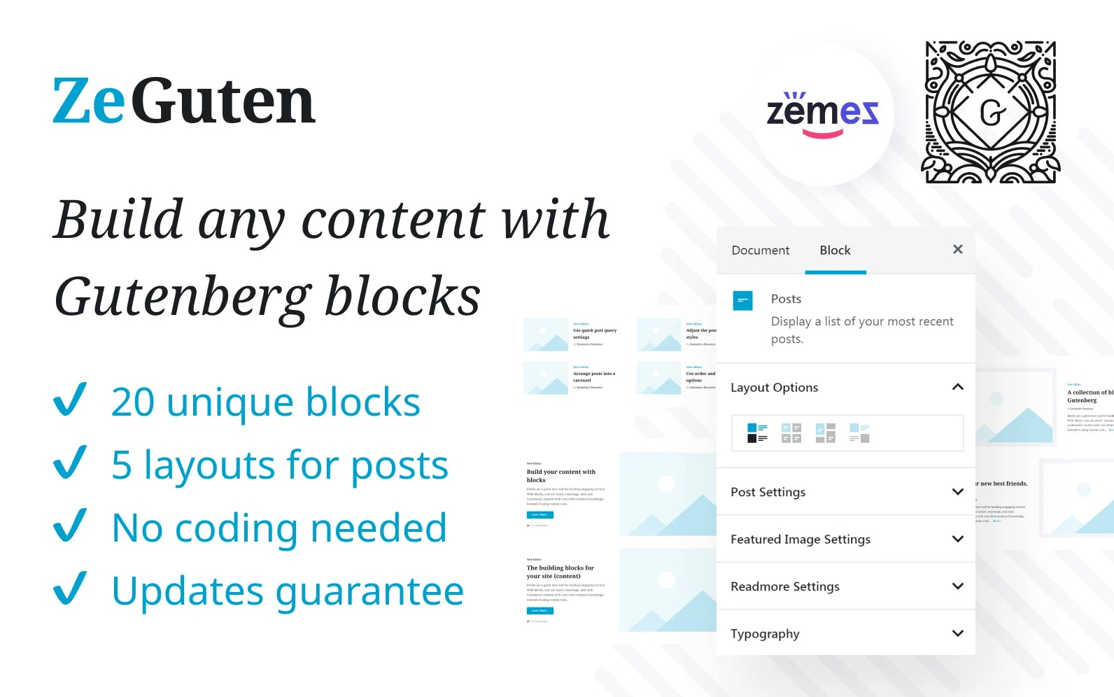 ZeGuten Gutenberg WordPress Blocks