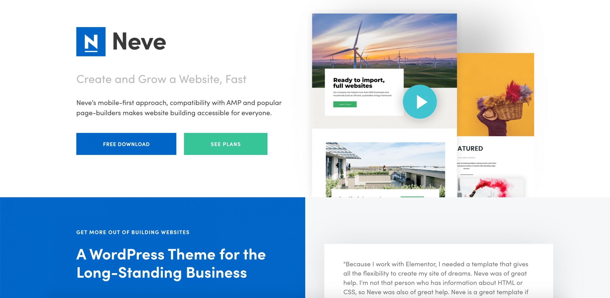 Neve free WordPress theme