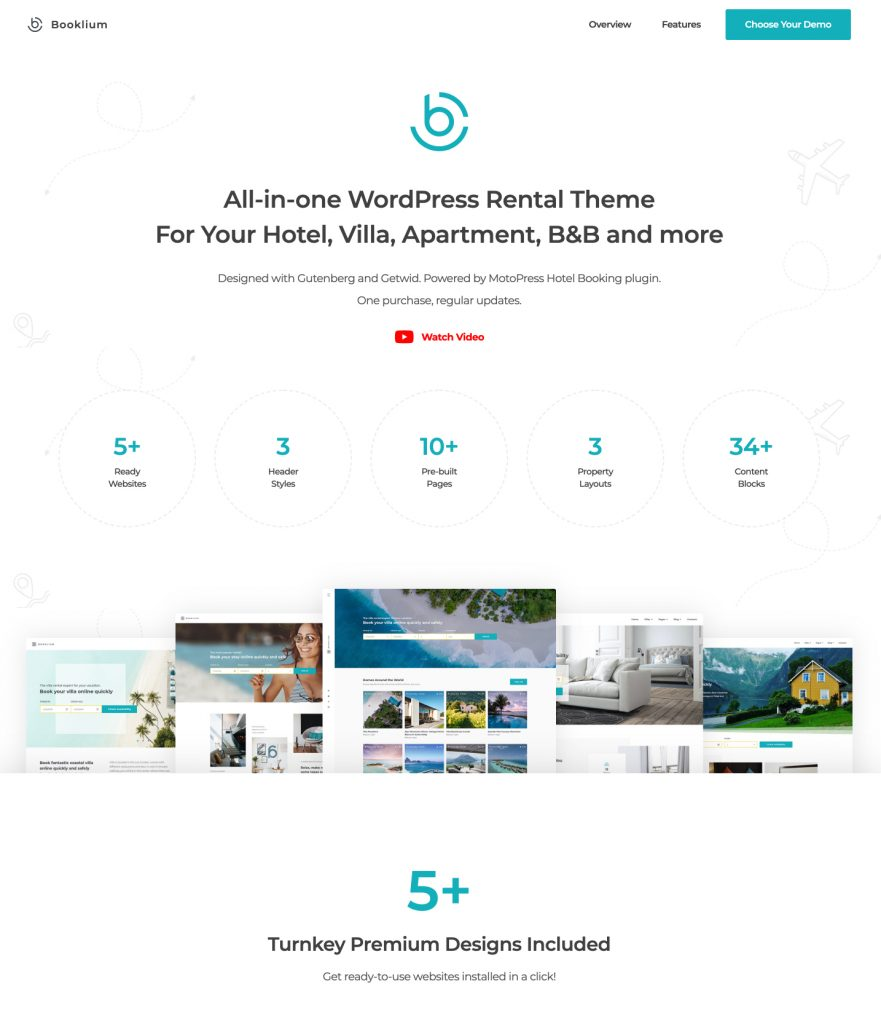 Booklium WordPress booking theme