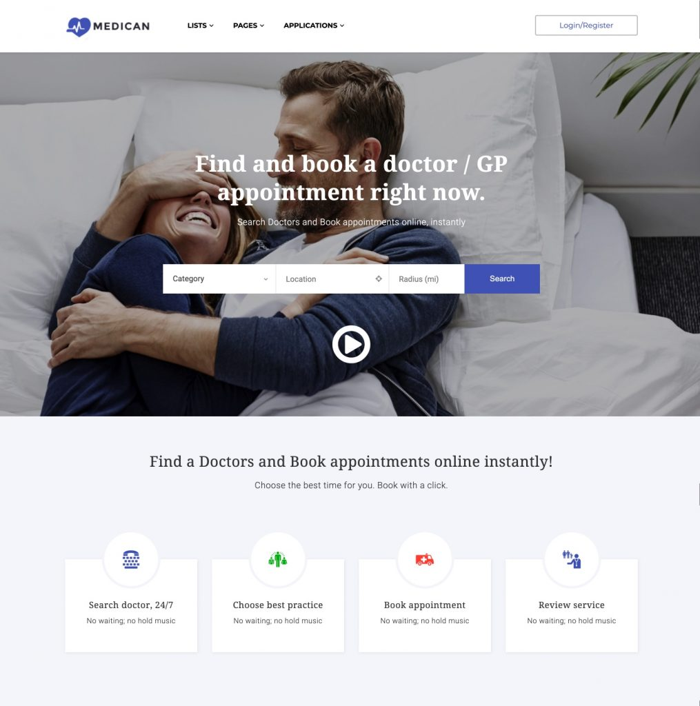 Medican WordPress booking theme