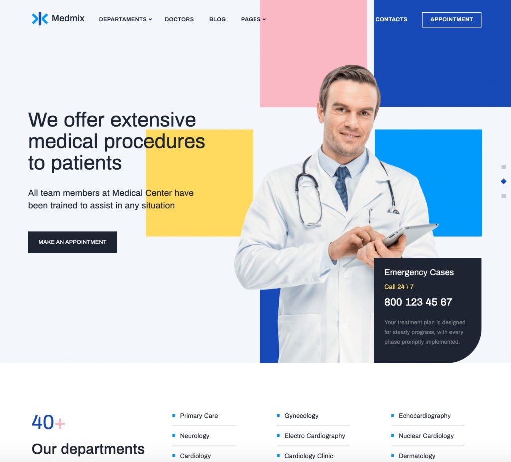 Medmix Elementor Medical WordPress Theme
