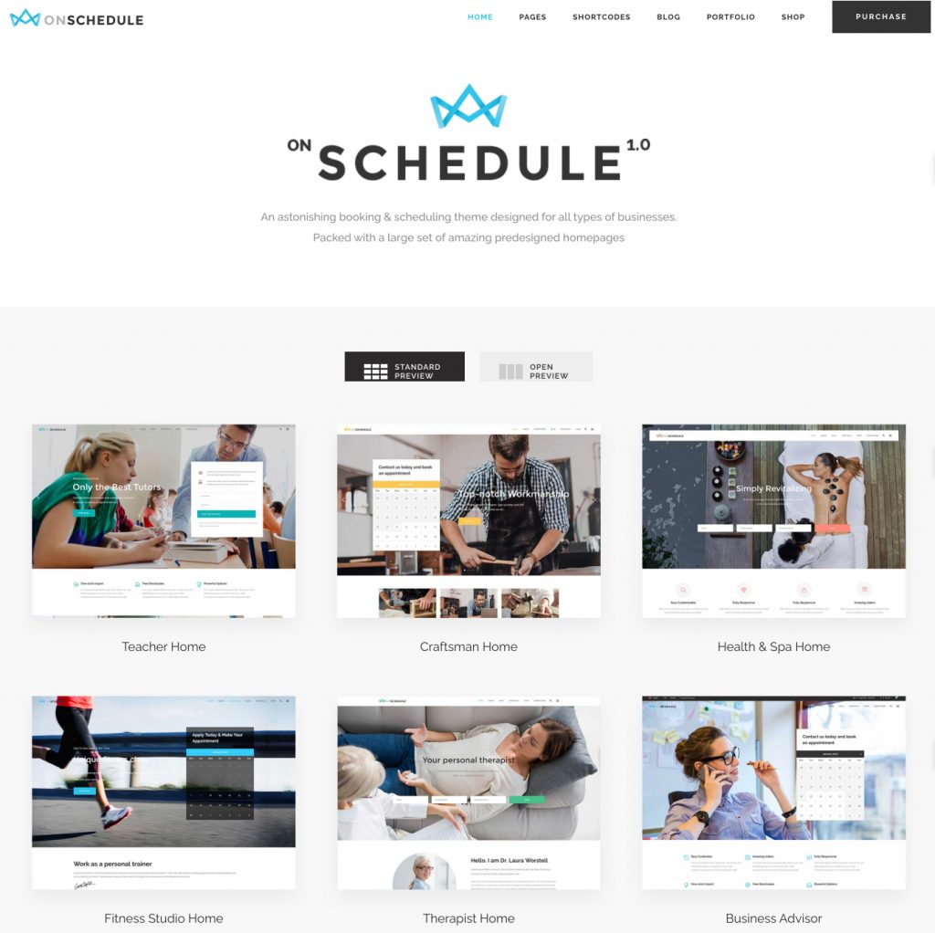 OnSchedule WordPress appointment theme