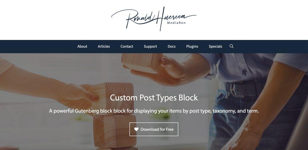 WordPress custom Post Type Plugin