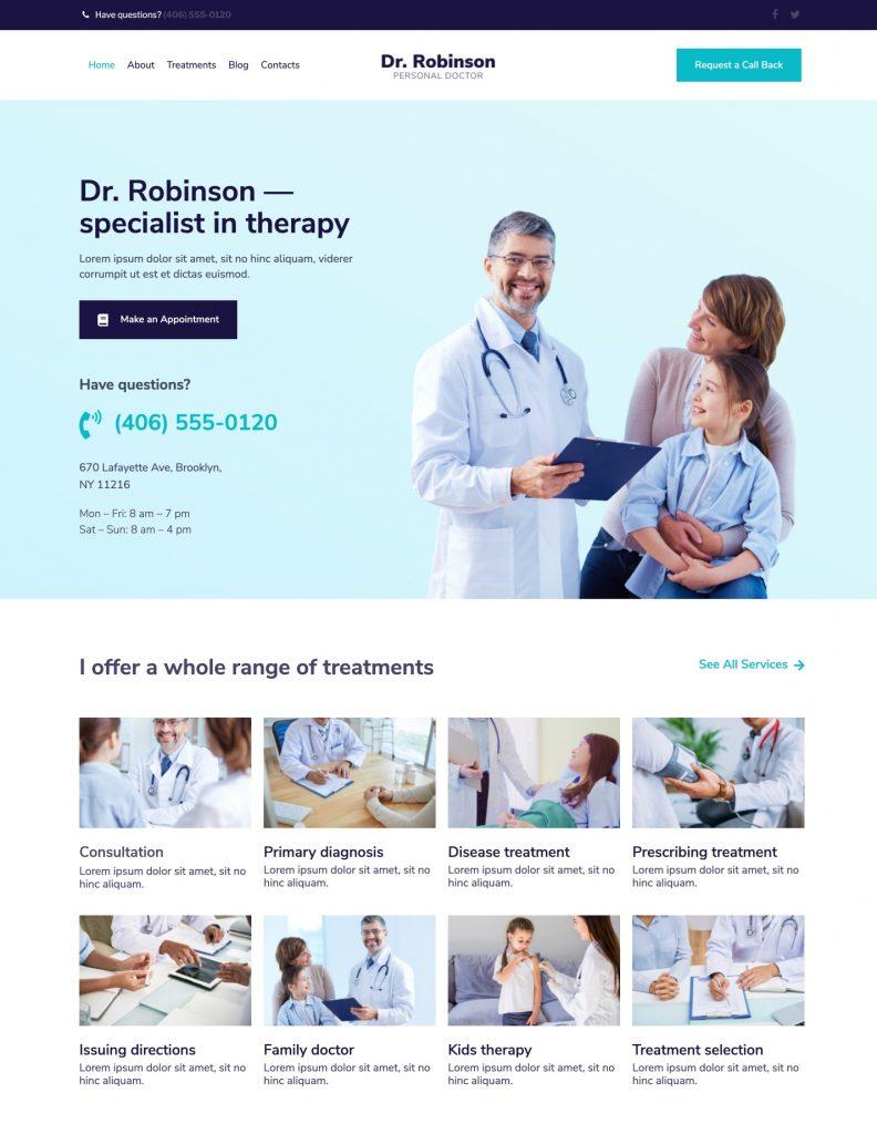 Dr.Robinson WordPress Theme for Gutenix