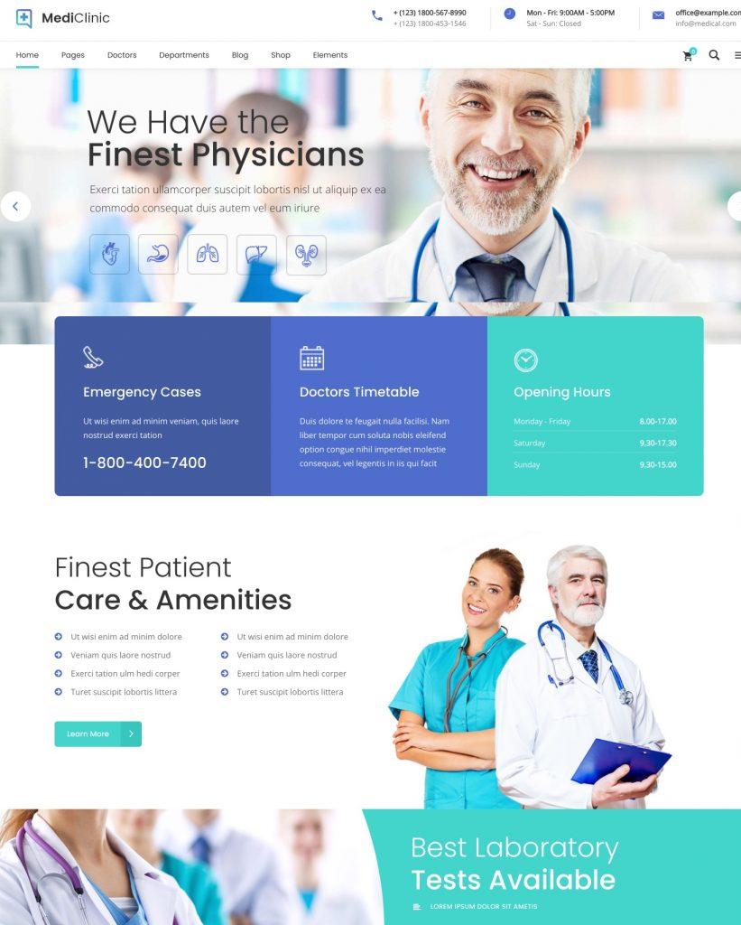 MediClinic Medical WordPress Theme