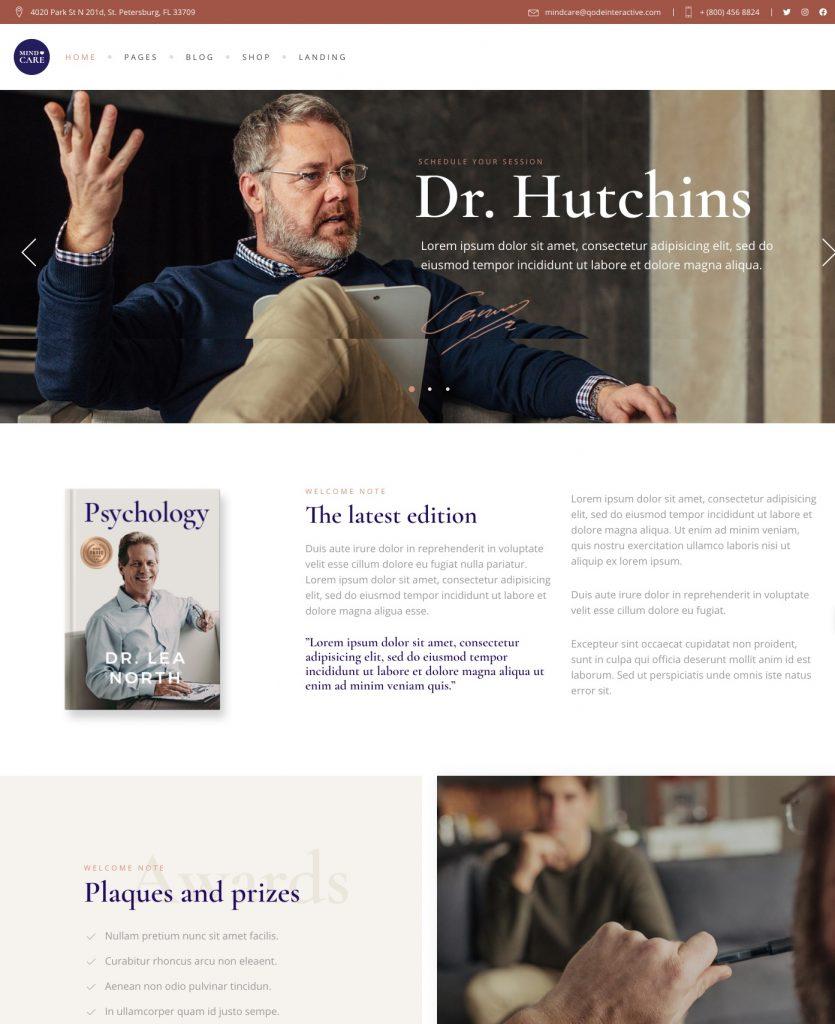 MindCare Medical WordPress Theme