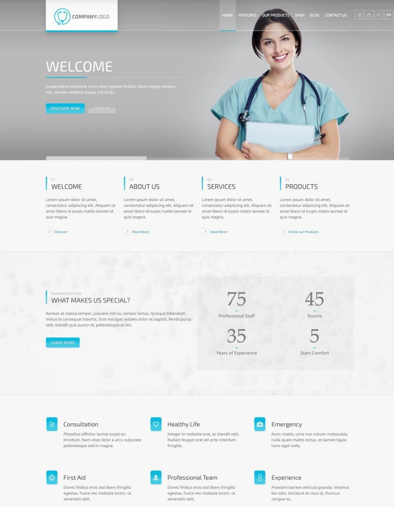 RT-Theme 20 Medical WordPress Theme
