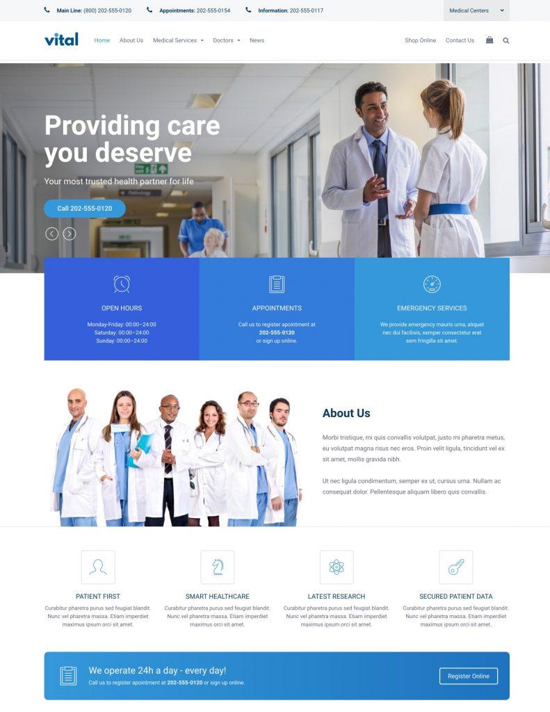Vital Medical WordPress Theme