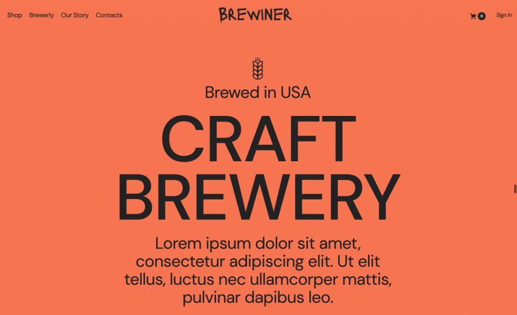 Craft Brewery WordPress Theme