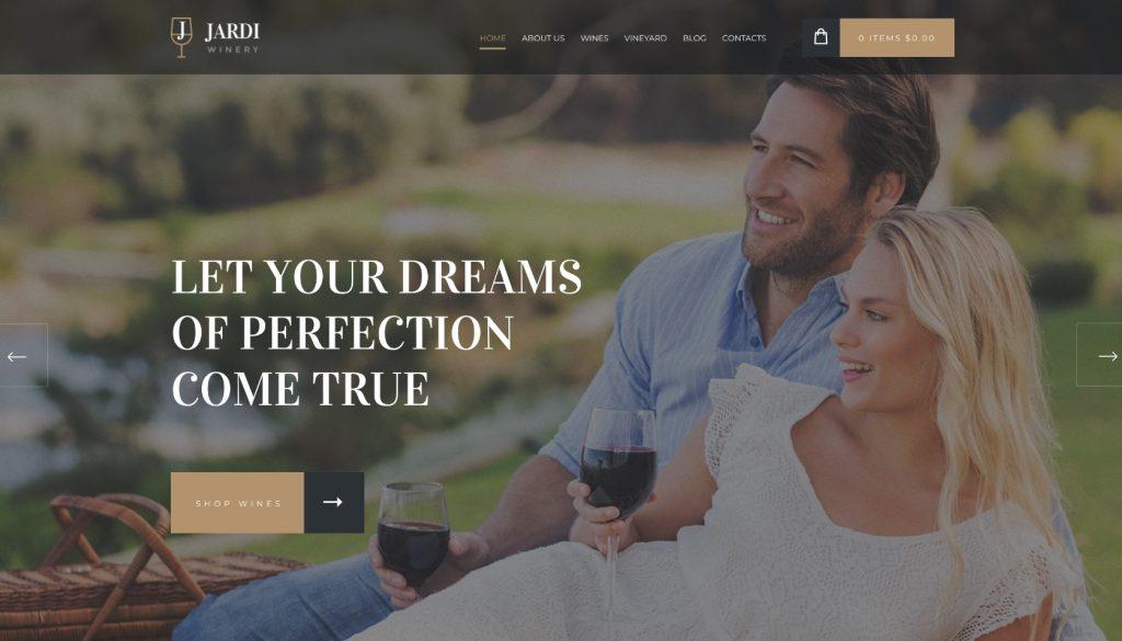 Winery & Wine Shop WordPress Theme