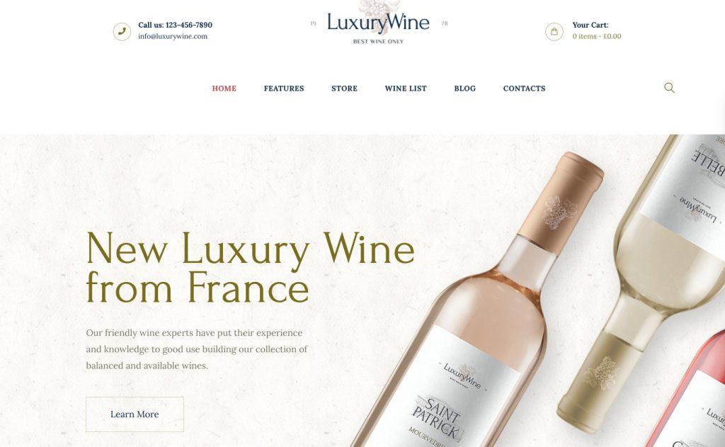 Liquor Store & Vineyard WordPress Theme