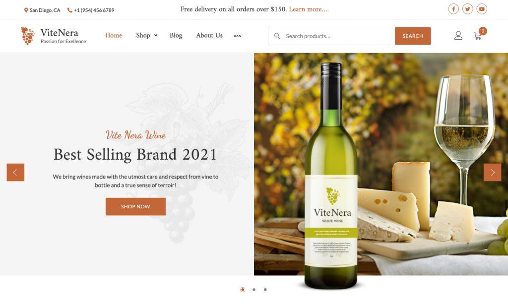 Vite Nera WordPress Wine Theme