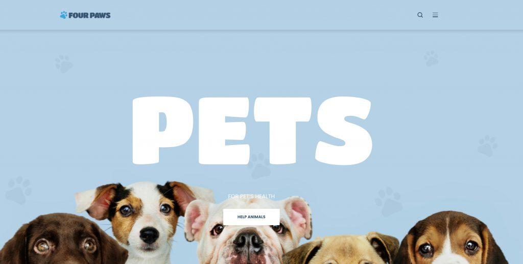 Pet Care WordPress Template