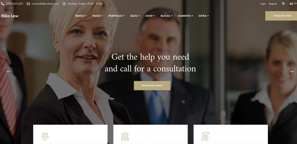WordPress theme for lawyers