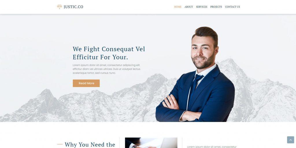 Gutenix lawyer WordPress theme