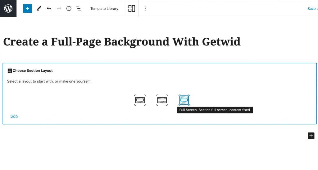 WordPress full-page background